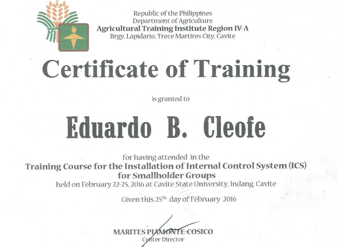 Internal Control System on Organic Agriculture 1