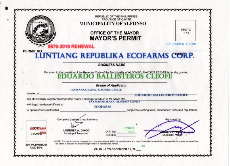 Mayor's Permit 2018